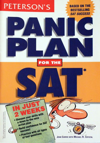 Peterson's Panic Plan for the Sat by Joan Davenport Carris (Author), Michael R. Crystal (Author), Joan Carris (Author)