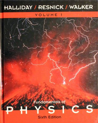 Fundamentals of Physics, 6th Edition by David Halliday (Author), Robert Resnick (Author), Jearl Walker (Author)