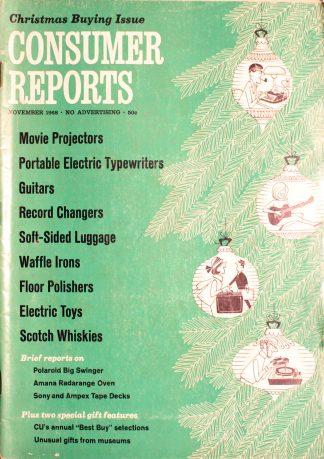 Vintage Consumer Reports Magazine November 1968