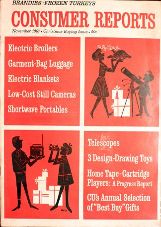 Vintage Consumer Reports Magazine November 1967