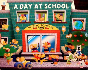 Inside/Outside Book: A Day At School Public School 123 by Charles Reasoner & Lee Howard