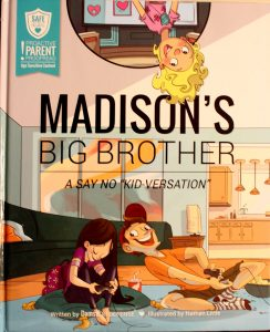 "Damsel In Defense Safe Hearts kids book ""Madison's Big Brother"""