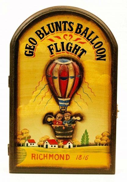 Geo Blunts Blunt Balloon Flight Richmond 1816 - American Folk Art Key Holder