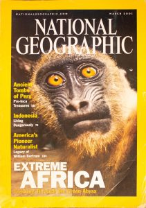 """National Geographic, March 2001, """"EXTREME AFRICA, Trekking Through The Green Extreme Abyss"""""""