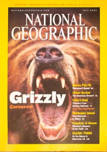 """National Geographic, July 2001, """"GRIZZLY Cornered!"""""""