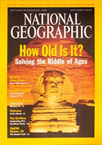 """National Geographic, September 2001, """"How Old Is It? Solving the Riddle of Ages"""""""