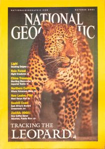 """National Geographic, October 2001, """"Tracking The Leopard"""""""