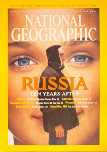 """National Geographic, November 2001, """"RUSSIA TEN YEARS AFTER"""""""