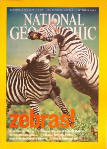 "National Geographic, September 2003, ""Zebras!"""
