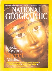 "National Geographic, January 2003, ""Inside Egypt's Secret Vaults"""