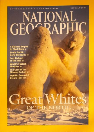 "National Geographic, February 2004, ""Great Whites OF THE NORTH"""
