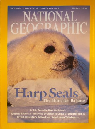 "National Geographic, March 2004, ""Harp Seals The Hunt for Balance"""
