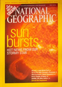 """National Geographic, July 2004, """"Sun Bursts Hot News from our Stormy Star"""""""