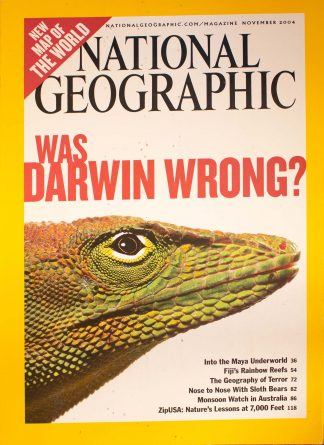 "National Geographic, November 2004, ""Was Darwin Wrong?"""