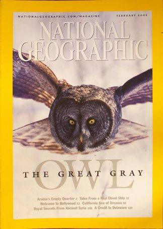 "National Geographic, February 2005, ""THE GREAT GREY OWL?"""
