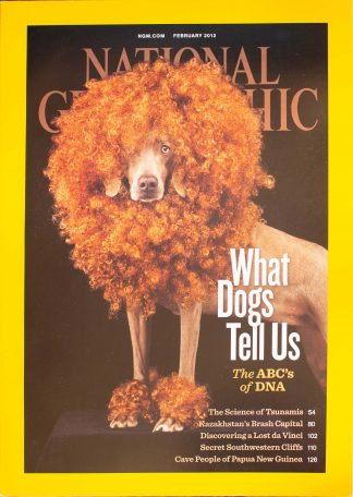 "National Geographic, February 2012, ""What Dogs Tell Us; The ABC's of DNA"""