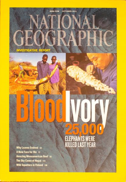 "National Geographic, October 2012, ""Blood Ivory"""